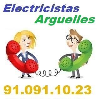 Telefono de la empresa electricistas Arguelles