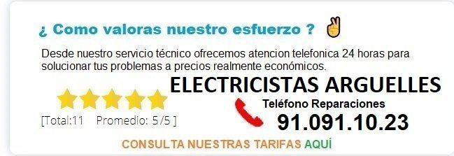 electricistas arguelles precios